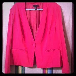 2XL INC international hot pink blazer jacket